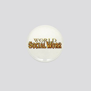 World of Social Work Mini Button