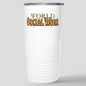 World of Social Work Stainless Steel Travel Mug
