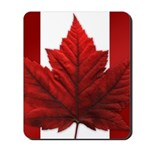 Canadian Flag Mousepad Souvenir Maple Leaf Art