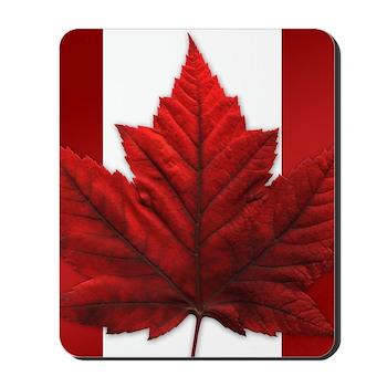 Canadian Flag Mousepad Souvenir Maple Leaf Art