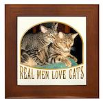 Real Men Love Cats Framed Tile