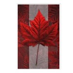 Canadian Flag Art Postcards 8 Pack Maple Leaf