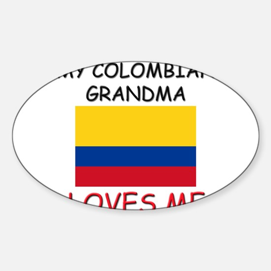 My Colombian Grandma Loves Me Oval Decal