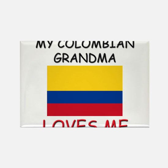 My Colombian Grandma Loves Me Rectangle Magnet