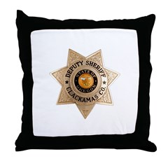 Clackamas County Sheriff Throw Pillow