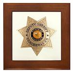 Clackamas County Sheriff Framed Tile