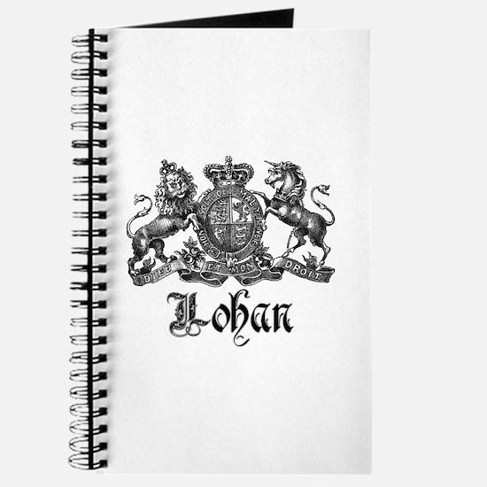 Lohan Vintage Crest Family Name Journal