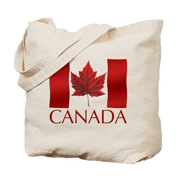 Canada Flag Tote Bag Maple Leaf Souvenir Art