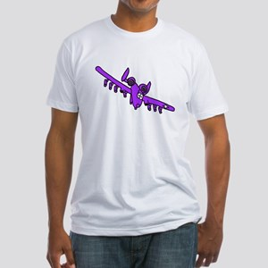 A-10 Purple Fitted T-Shirt