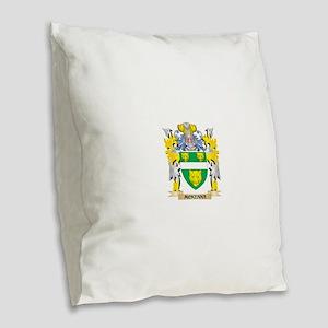 Mckenna Coat of Arms - Family Burlap Throw Pillow