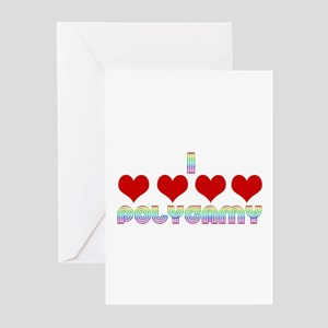 I Love Polygamy Greeting Cards (Pk of 20)