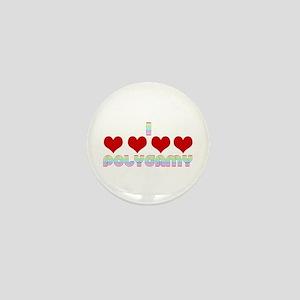 I Love Polygamy Mini Button