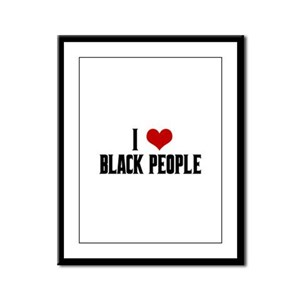 I Love Black People Framed Panel Print