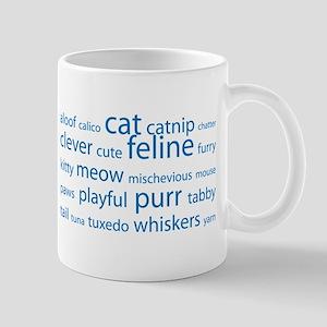 Cat Tag Cloud Mug