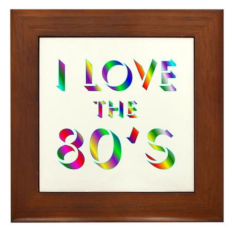 Love 80's Framed Tile