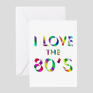Love 80's Greeting Card