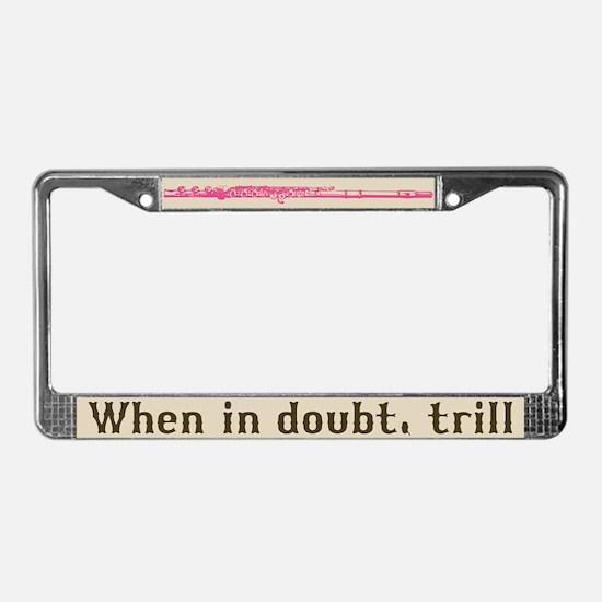 Flute Trill License Plate Frame