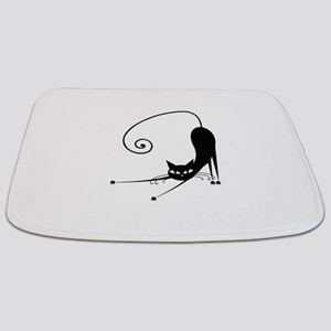 Black Cat Bathmat