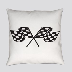 Checkered Flag, Race, Racing, Moto Everyday Pillow