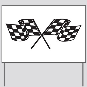 Checkered Flag, Race, Racing, Motorsport Yard Sign