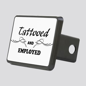 Tattooed and Employed Rectangular Hitch Cover