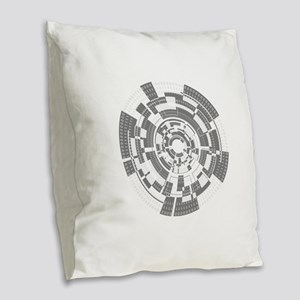 Bits and Bytes Burlap Throw Pillow