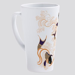 Koi - Fish - Tattoo - Asian - Japa 17 oz Latte Mug