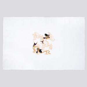 Koi - Fish - Tattoo - Asian - Japanese 4' x 6' Rug