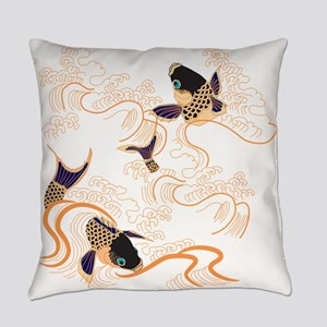 Koi - Fish - Tattoo - Asian - Japa Everyday Pillow