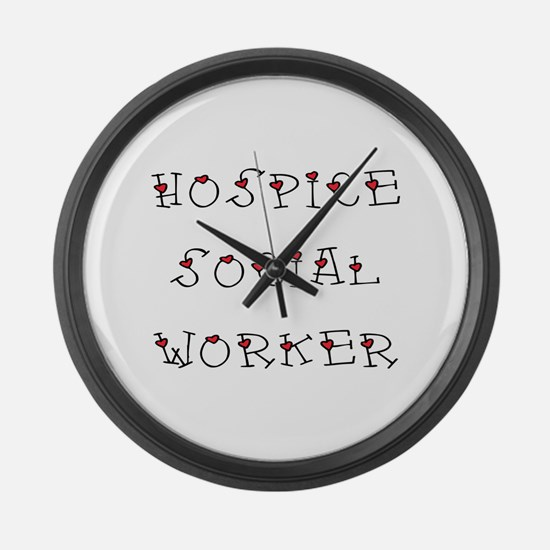 Hospice SW Hearts Large Wall Clock