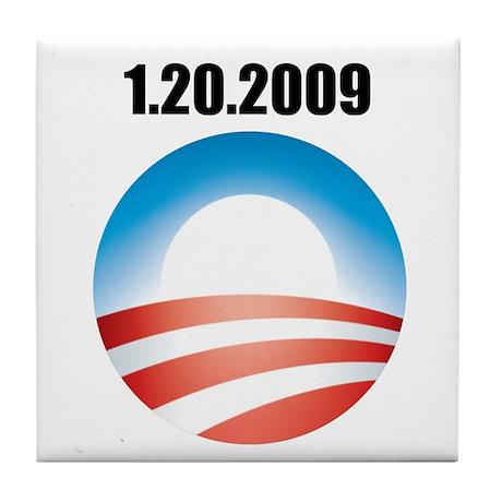 Barack Obama - 1.20.2009 Logo Tile Coaster
