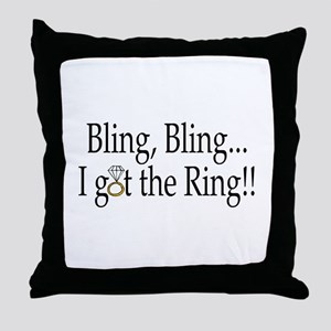 Bling Bling I Got The Ring Throw Pillow