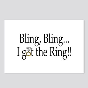 Bling Bling I Got The Ring Postcards (Package of 8