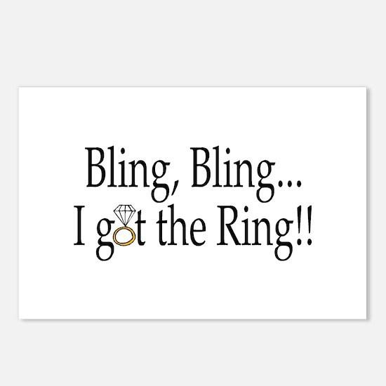 Bling Bling I Got The Ring Postcards (Package of 8