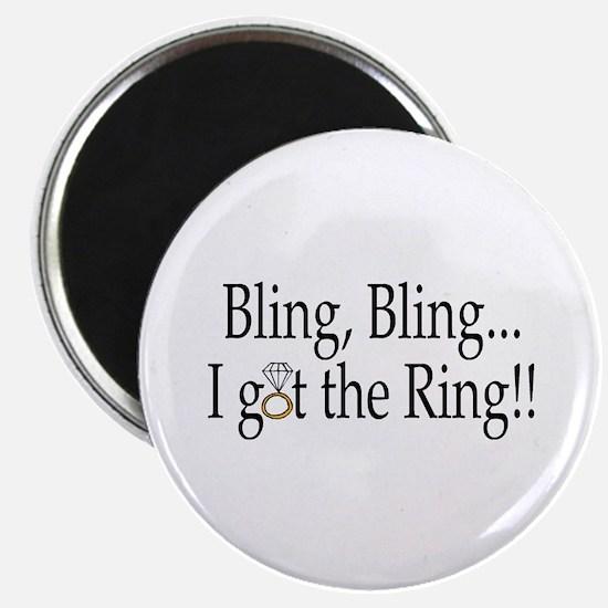 """Bling Bling I Got The Ring 2.25"""" Magnet (10 pack)"""
