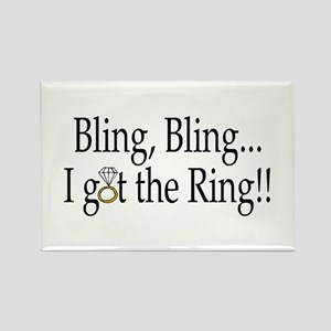Bling Bling I Got The Ring Rectangle Magnet