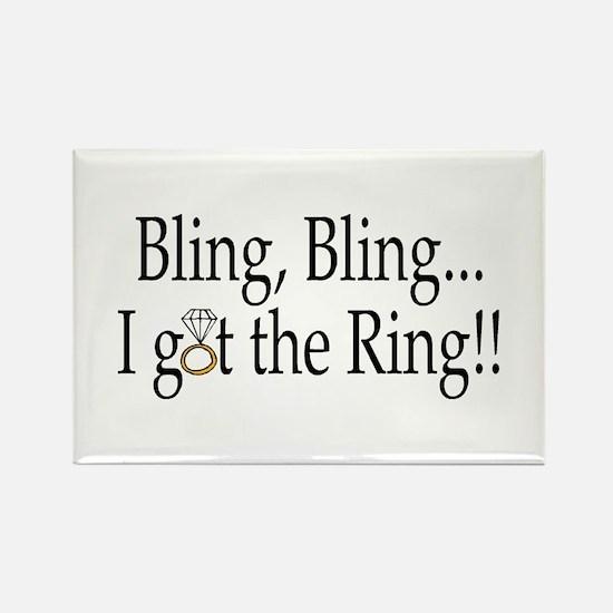 Bling Bling I Got The Ring Rectangle Magnet