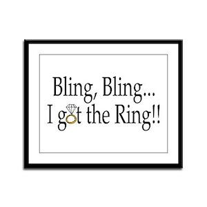 Bling Bling I Got The Ring Framed Panel Print