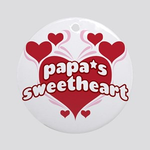 PAPA'S SWEETHEART Ornament (Round)