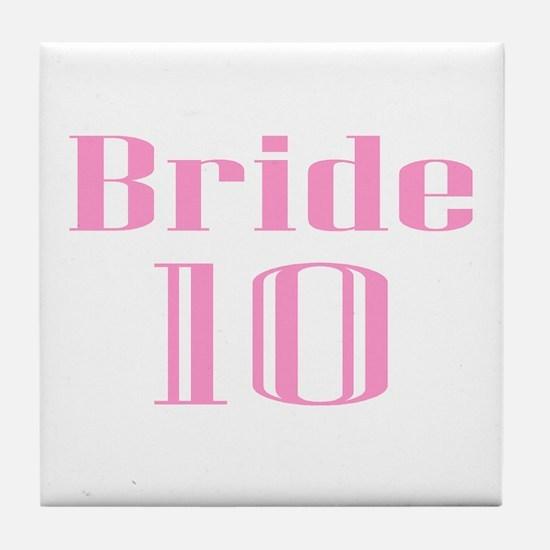Bride 10 Tile Coaster
