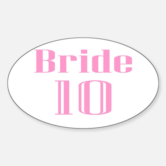 Bride 10 Oval Decal