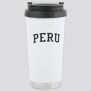 Peru Black Stainless Steel Travel Mug