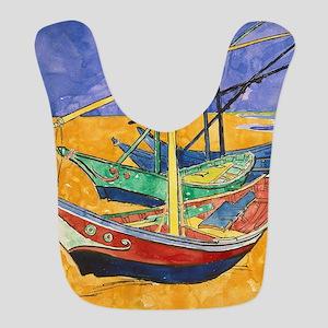 Van Gogh Boats Polyester Baby Bib
