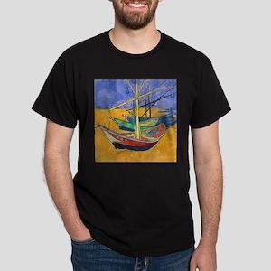 Van Gogh Boats T-Shirt