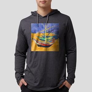 Van Gogh Boats Long Sleeve T-Shirt