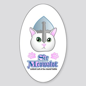 Sir Meowalot Oval Sticker