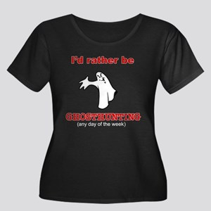 Rather Be Ghosthunting Women's Plus Size Scoop Nec