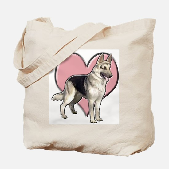 GSD heart Tote Bag