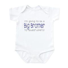 Big Brother to Quadruplets Infant Bodysuit