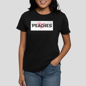 PEACHES (pink heart) T-Shirt